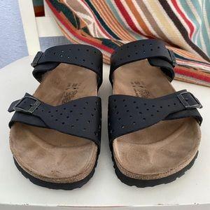 Birkenstock Birki's Freeport 2 Strap Black Sandals